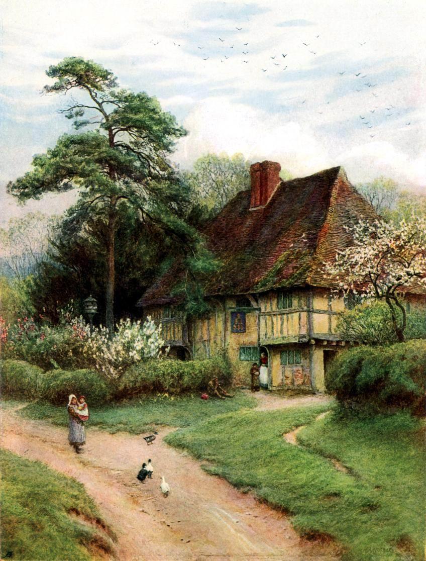 Paintings Of Old Brick Homes